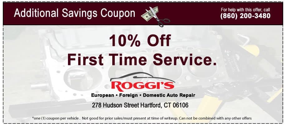 BMW service center coupon specials