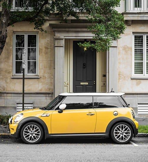 Mini Cooper On Street
